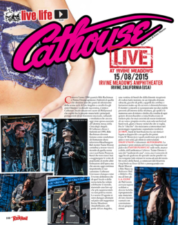 CATHOUSE LIVE 2015 - ROCK HARD (ITALY)