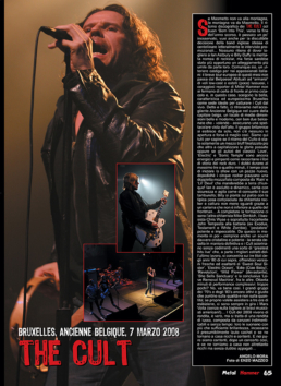 THE CULT - METAL HAMMER (ITALY)