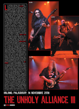 THE UNHOLY ALLIANCE III - METAL HAMMER (ITALY)