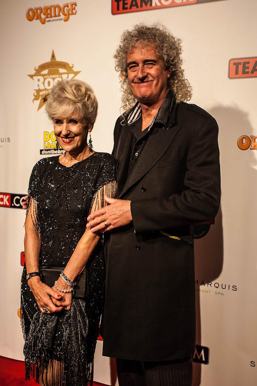 BRIAN MAY & ANITA DOBSON, Hollywood, CA - USA 2014