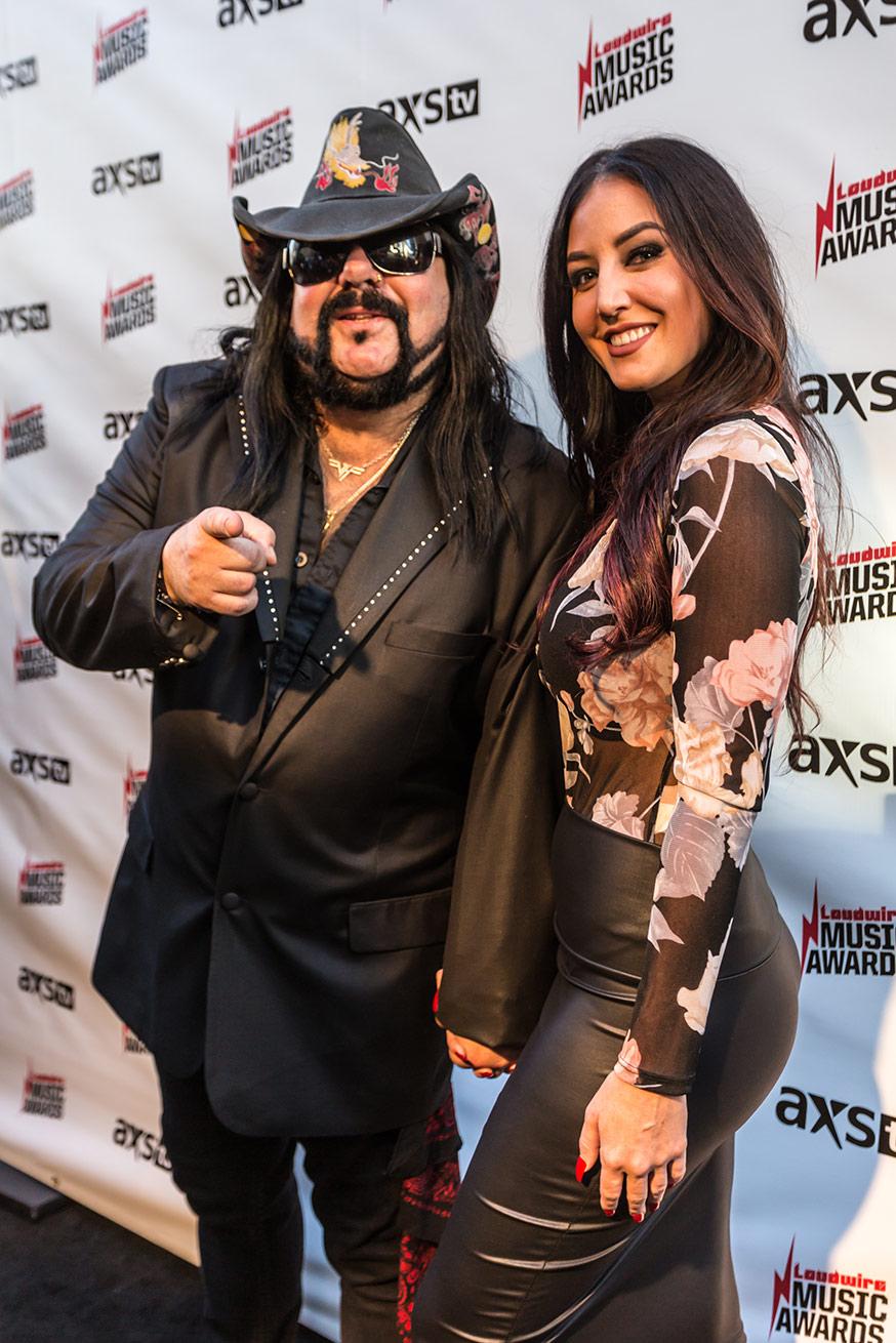 VINNIE PAUL & GIRLFRIEND, Los Angeles, CA - USA 2017